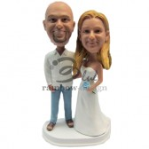 Casua Wedding Couple Custom Bobbleheads