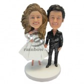Saturday Night Fever Couple Custom Bobbleheads