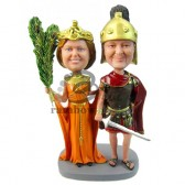 Roman Style Wedding Couple Custom Bobblehead