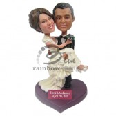 So Gorgeous Wedding Couple Custom Bobbleheads