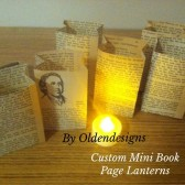 Custom Made Book Luminaries