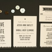 Drawn Together Wedding Invitation Suite