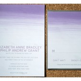 Ombre Dry Brush Wedding Invitation