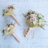 Custom Dusty Rose Keepsake Bouquets