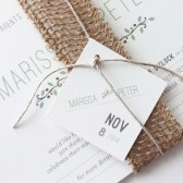 Earth Burlap Wedding Invitations