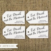 Eat Drink and Be Married Wedding Favor Tags