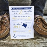 Yellow and Navy Nautical Texas with Chevron
