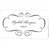 Place Card Template - Elizabeth Design