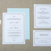 Elegant Script Wedding Invitation Suite