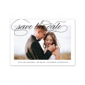 Elegant Calligraphy Save the Dates