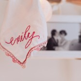 Custom Hand Embroidered Hanky with Name or Monogram