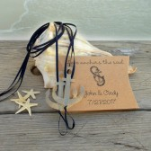 Anchor beach wedding favors, barefoot sandals