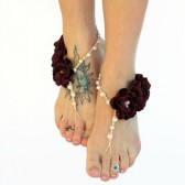 Wine Barefoot Wedding Sandals - Many Color Options