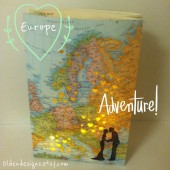 Europe Wedding, Europe Map Luminary
