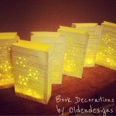 Book Luminary Bags Aisle Decor