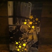 Astronaut Luminary, Space Wedding Theme