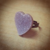 Heart Drusy Ring