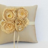 Gold ring pillow