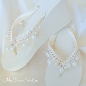 Bridal Ivory Wedges. Devine Dream Dream Collection 01