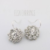 Elsa simple rhinestone bridal earrings