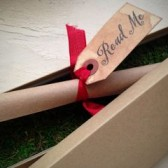 Boxed Scroll Invitation