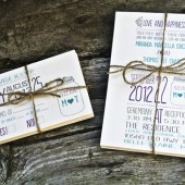 Wedding Invitation: Rustic and Whimsical Mason Jar