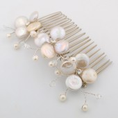 freshwater coin pearl flower comb
