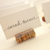 Gold Glitter Wine Cork Place Card Holders