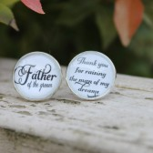 Father of the Groom Thank You For Raising the Man of My Dreams Wedding Cufflinks