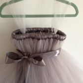 Grey tulle flower girl dress