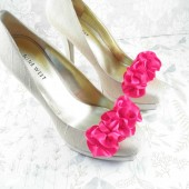 Fuchsia Wedding Shoe Clips