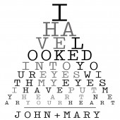 Eye Chart Print or Canvas