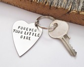 Forever Your Little Girl - Heart Keychain