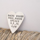 Personalized Heart Shape Guitar Pick