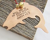 Will You Marry Me Fishing Ornament