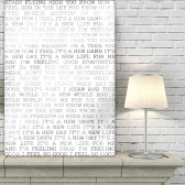 word art canvas art