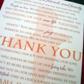 Fall in Love Wedding Guest Thank You Card