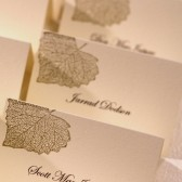 Falling Leaves Place Cards, Hand Stamped