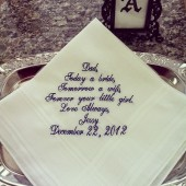 Father of the Bride Wedding Handkerchief