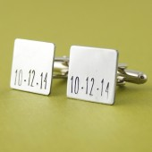 Custom Date Cuff Links