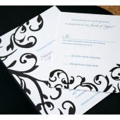 Filligree and Damask Wedding Invitation