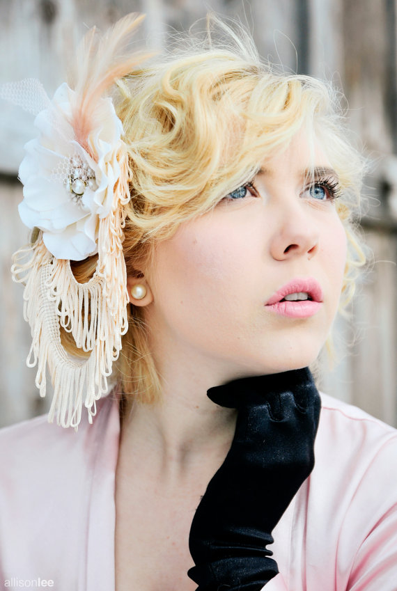 flapper wedding hair accessory