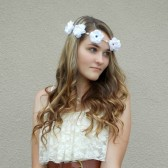 Hippie Floral Crown, Flower Headband, Wedding Flower Crown