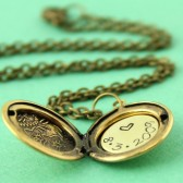 Personalized Floral Locket Necklace