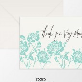 Modern Floral Thank You Folded Note Card