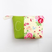 Bright Floral Monogram Cosmetic Bag