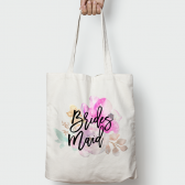 Floral Posie Bridesmaid Wedding Tote Bag