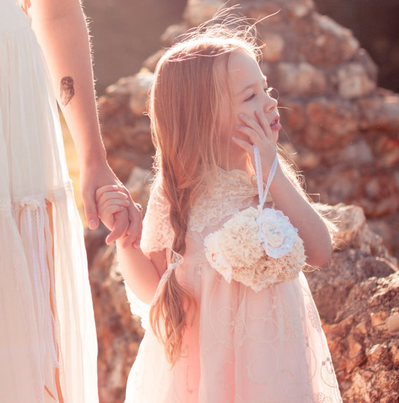 flower girl flower ball (by Autumn and Grace Bridal via Emmaline Bride)