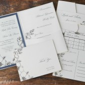Floral Border Invitation Suite