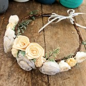 Flower Crown, Flower Girl, Wedding Hair Accessory, Rustic Head Wreath, Wedding Headband, Wedding Crown, Rustic Wedding, Beach Wedding